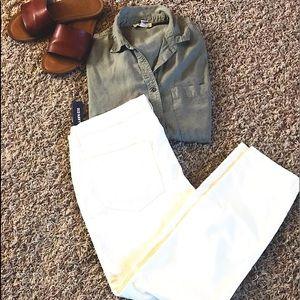 NWT Old Navy White Corduroy Pants